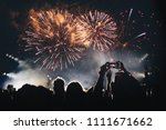 Fireworks And Crowd Of Audienc...