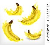 banana with juice splash.... | Shutterstock .eps vector #1111672115