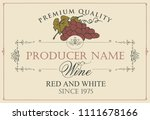 vector label for red and white... | Shutterstock .eps vector #1111678166