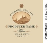 vector label for wine with... | Shutterstock .eps vector #1111678202