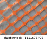 gray wall. orange ornament.... | Shutterstock . vector #1111678406