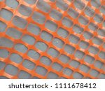 gray wall. orange ornament.... | Shutterstock . vector #1111678412