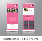 roll up stand design. vertical... | Shutterstock .eps vector #1111679096