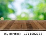 empty wooden table perspective... | Shutterstock . vector #1111682198