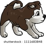 vector illustration of a dog....   Shutterstock .eps vector #1111683848