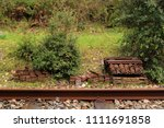 a section or railroad track... | Shutterstock . vector #1111691858