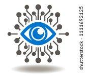 eye circuit icon vector. ai... | Shutterstock .eps vector #1111692125