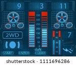 car service. scanning....   Shutterstock . vector #1111696286