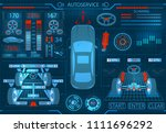 car service. scanning....   Shutterstock . vector #1111696292