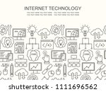 internet technology and... | Shutterstock .eps vector #1111696562