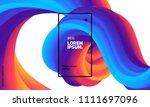 trendy geometric background. 3d ... | Shutterstock .eps vector #1111697096