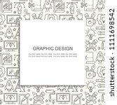 vector graphic design seamless... | Shutterstock .eps vector #1111698542