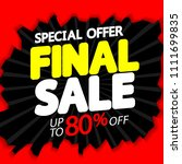 final sale  up to 80  off ... | Shutterstock .eps vector #1111699835