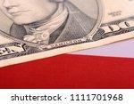 ten dollar bill in front of the ... | Shutterstock . vector #1111701968