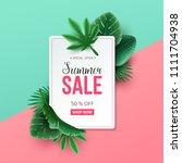 beautiful summer sale... | Shutterstock .eps vector #1111704938