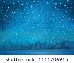 vector winter wonderland... | Shutterstock .eps vector #1111706915