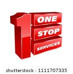 1 stop services banner vector... | Shutterstock .eps vector #1111707335