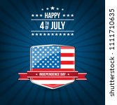fourth of july. 4th of july... | Shutterstock .eps vector #1111710635