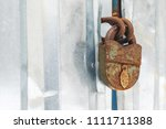 old rusty castle hanging on the ... | Shutterstock . vector #1111711388