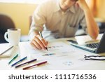 businessman feeling sad because ... | Shutterstock . vector #1111716536