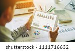 businessman working on project... | Shutterstock . vector #1111716632