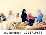 middle eastern suhoor or iftar... | Shutterstock . vector #1111719695