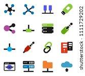 solid vector icon set   social... | Shutterstock .eps vector #1111729202