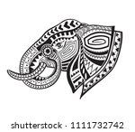 the stylized head of an... | Shutterstock . vector #1111732742