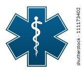 medical symbol of the emergency ... | Shutterstock . vector #111173402