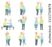 senior man and woman having a... | Shutterstock .eps vector #1111734878