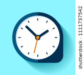 clock icon in flat style  round ... | Shutterstock .eps vector #1111737542