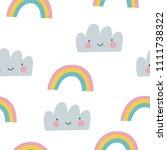 rainbow seamless pattern   Shutterstock .eps vector #1111738322