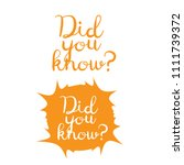 did you know background. did... | Shutterstock .eps vector #1111739372