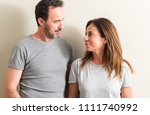 middle age couple  woman and... | Shutterstock . vector #1111740992