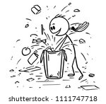 cartoon stick drawing... | Shutterstock .eps vector #1111747718