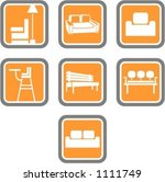 a set of 7 vector icons of... | Shutterstock .eps vector #1111749