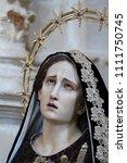 ragusa ibla  sicily  italy  ... | Shutterstock . vector #1111750745