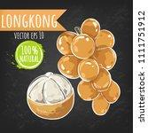 longkong. fresh fruit bright...   Shutterstock .eps vector #1111751912