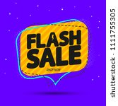 flash sale  tag design template ... | Shutterstock .eps vector #1111755305