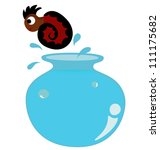 vector   nautilus shells... | Shutterstock .eps vector #111175682