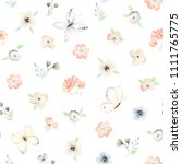 seamless floral pattern with... | Shutterstock .eps vector #1111765775