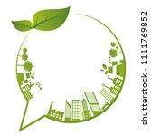 ecology concept with green city | Shutterstock .eps vector #1111769852