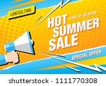 summer sale banner layout design | Shutterstock .eps vector #1111770308