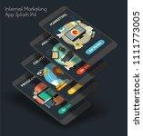 flat design responsive ui... | Shutterstock .eps vector #1111773005