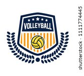vector volleyball league logo... | Shutterstock .eps vector #1111774445