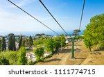 chairlift in anacapri is... | Shutterstock . vector #1111774715