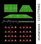football infographic elements.... | Shutterstock .eps vector #1111775462