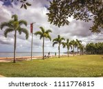 cairns esplanade with grass and ... | Shutterstock . vector #1111776815