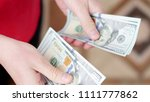 photo of man hands counting... | Shutterstock . vector #1111777862