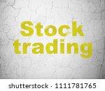 finance concept  yellow stock... | Shutterstock . vector #1111781765
